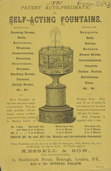 Advert for Kessell & Son, self acting fountains